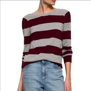Rebecca Minkoff Striped Wool Cashmere Sweater